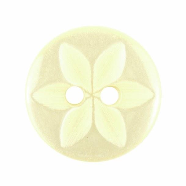 Button Star Round 14mm Lemon