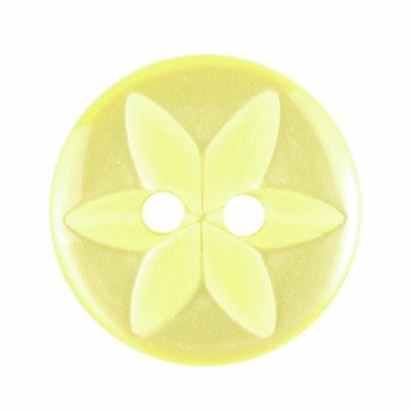 Button Star Round 14mm Yellow