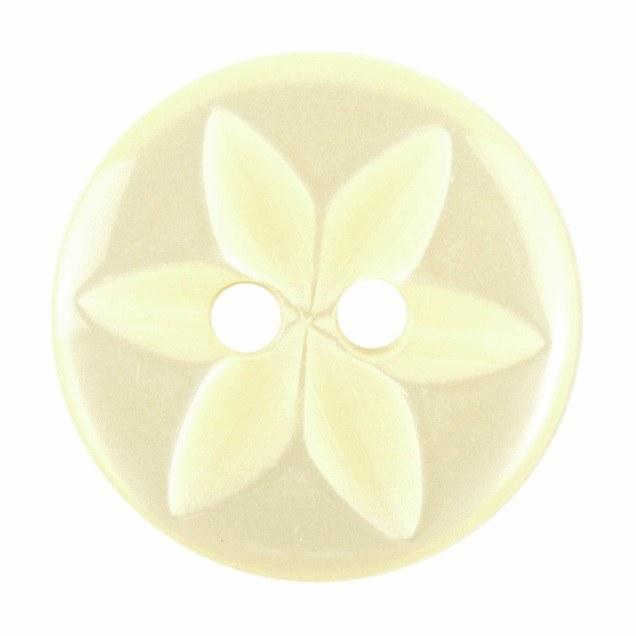 Button Round Star 16mm Lemon