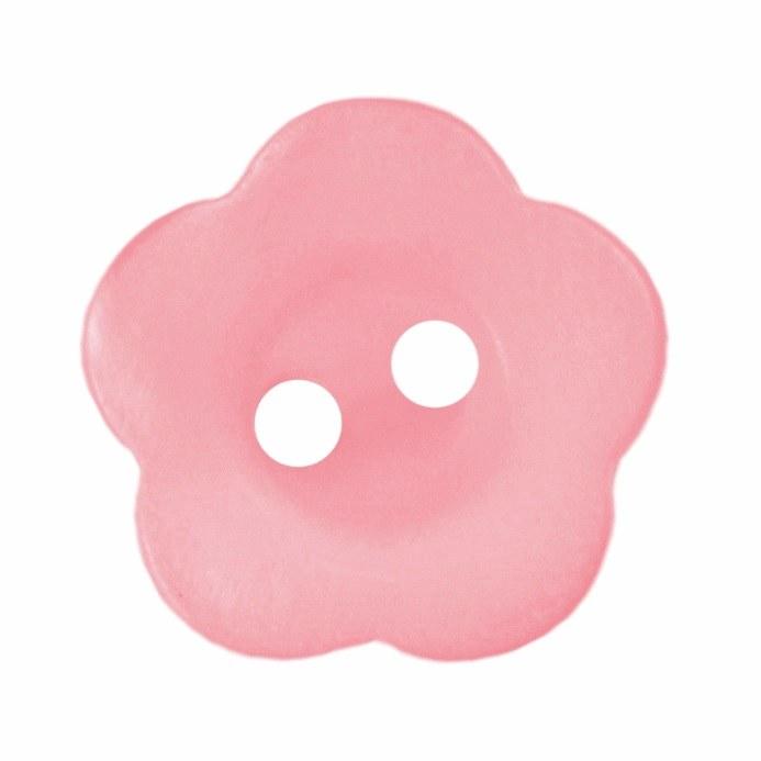 Button Flower 15mm Light Pink