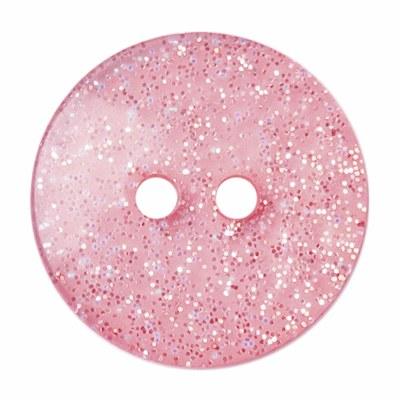 Button Glitter Light Pink 18mm