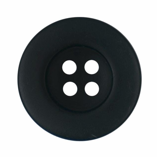Button Round 18mm Black