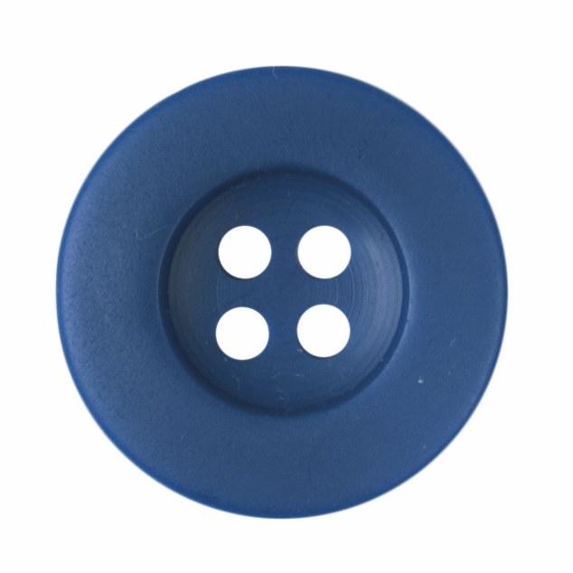 Button Round 18mm Blue