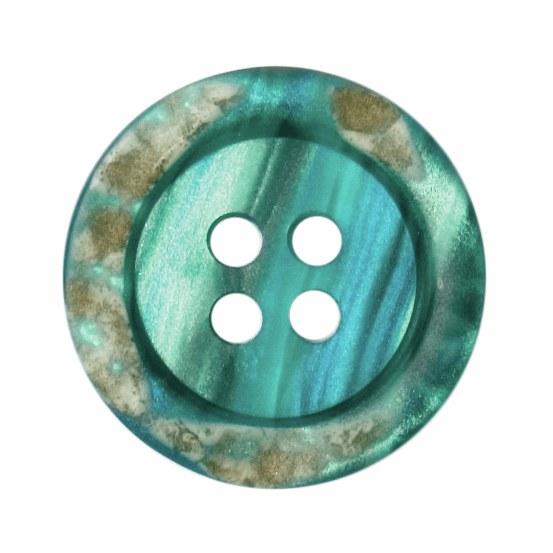 Button Round 18mm Blue Turquoi