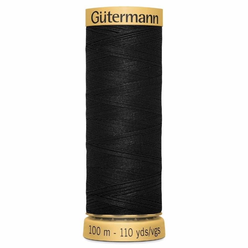 Gutermann Thread Cotton Black