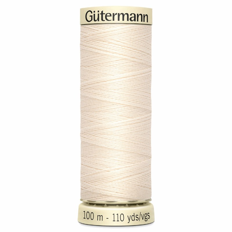 Gutermann Thread Col 802 Cream