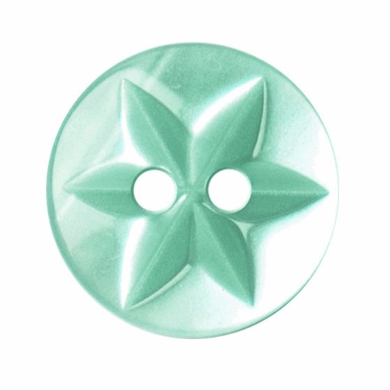 Button Star Design 15mm G Turq