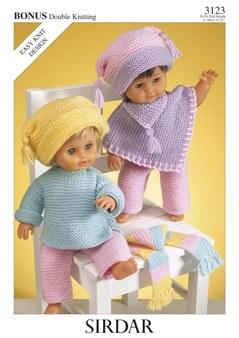 Sirdar 3123 Dolls clothes