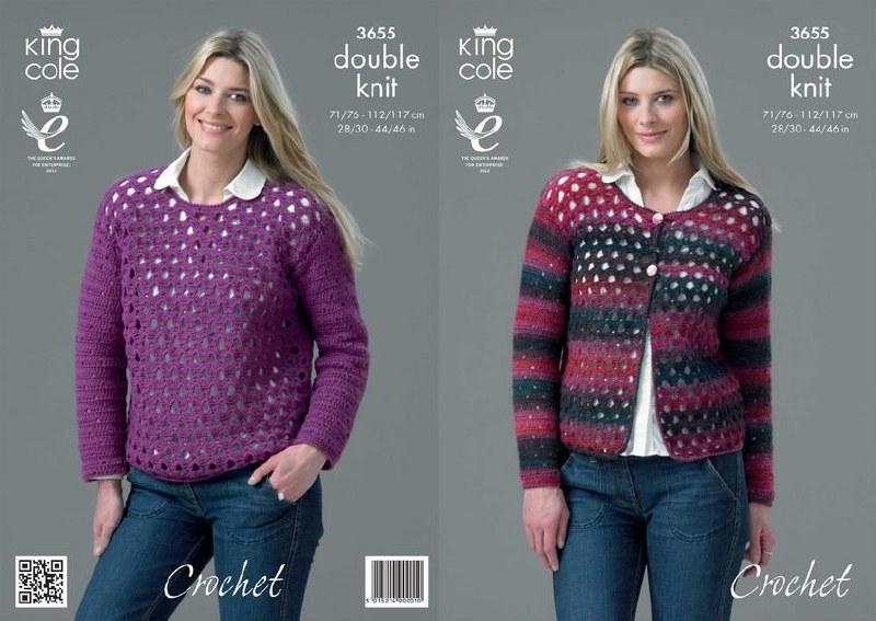 King Cole 3655 Crochet Cardi