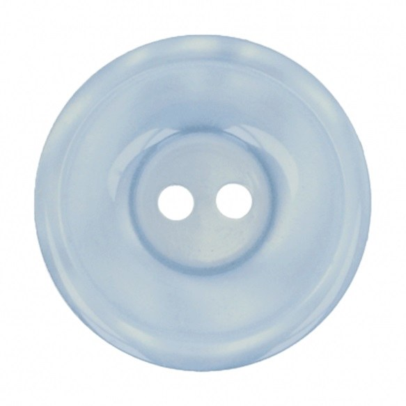 Button Round 20mm Pale Blue