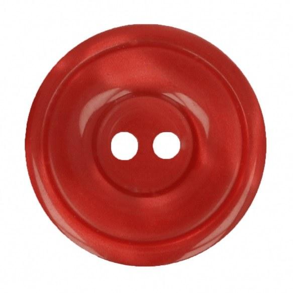 Button Round 20mm Red