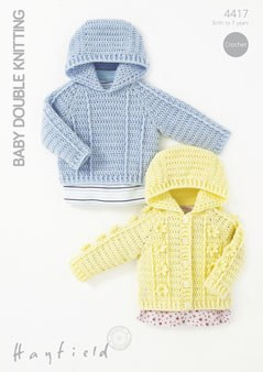 Hayfield 4417 Baby DK cardigan