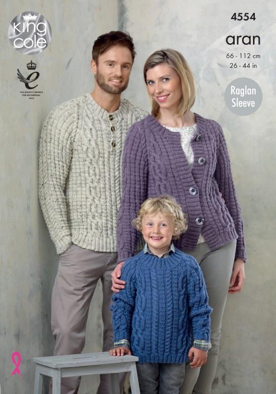 KC 4554 Raglan Cardi & Sweater