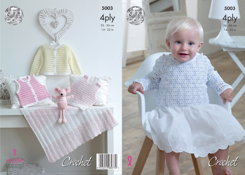 KC 5003 Pinafore, sweater 4ply