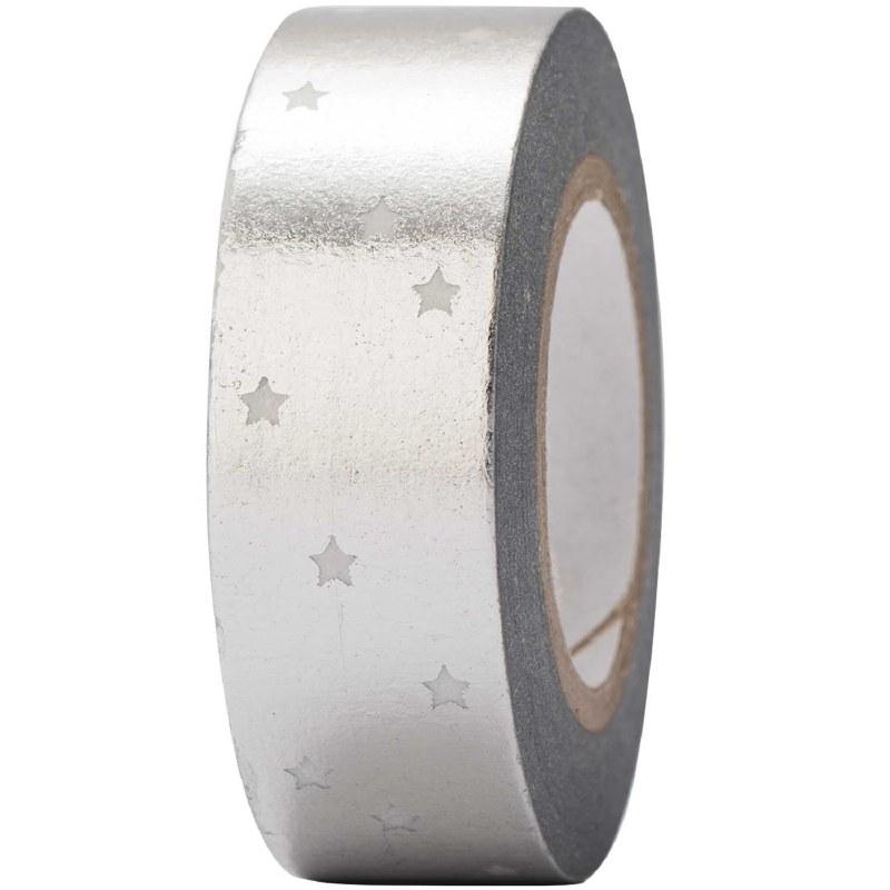 Tape Stars Silver, Hot Foil
