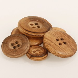 Drops Button 511 Burned Wood