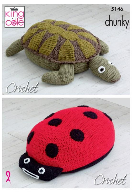 KC 5146 Ladybird & Turtle Poof