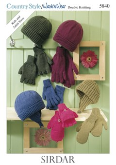 Sirdar 5840 dk hats and gloves