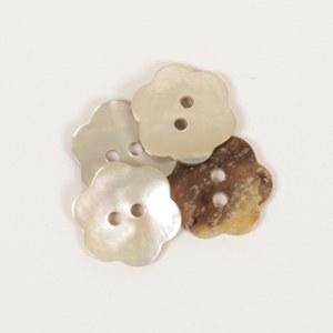 Drops Button 600 Flower White