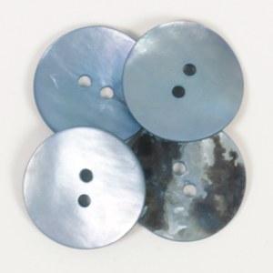Drops Button 612 Round Blue