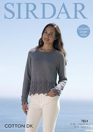 Sirdar 7824 Sweater cotton dk