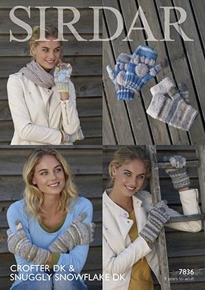 Sirdar 7836 Gloves Crofter dk