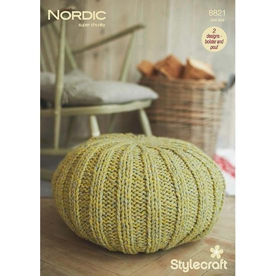 Stylecraft 8821 Nordic Pouff D