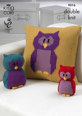 KC 9016 Owl Cushion & Toy