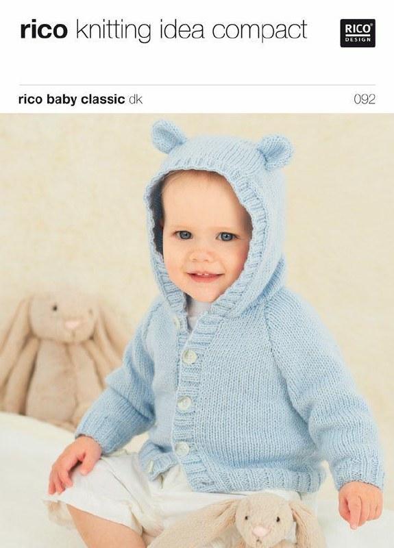 Rico 092 Cardigans & hat in dk
