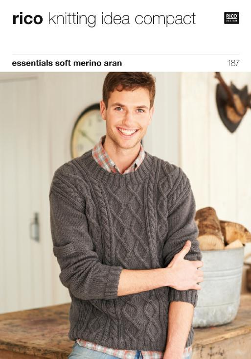 Rico 187 Man's Sweater in Aran