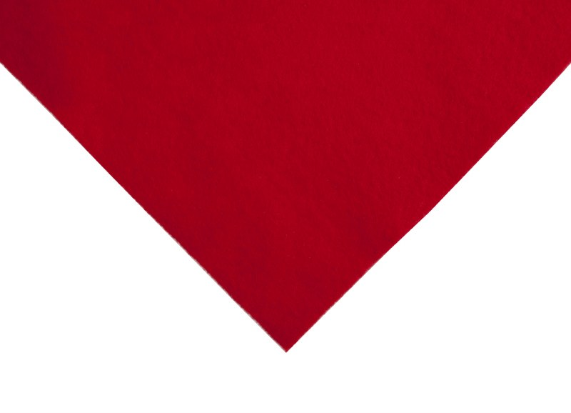 Acrylic Felt Square Red