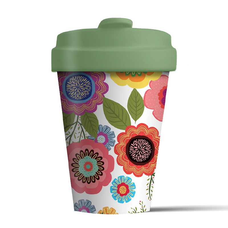 Bamboo Cup Flower Power