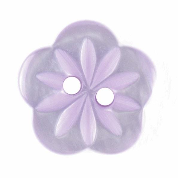 Button Flower 15mm Lilac