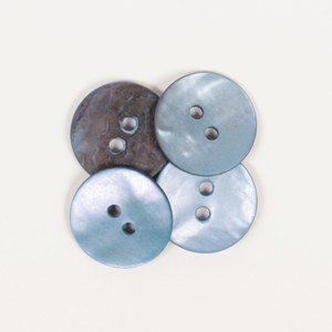 Drops Button 621 Round Blue