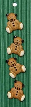 Incomp Buttons L427 Teddy Bear