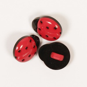 Drops Button 550 Ladybird 14mm
