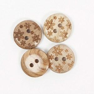 Drops Button 628 15mm Flowers