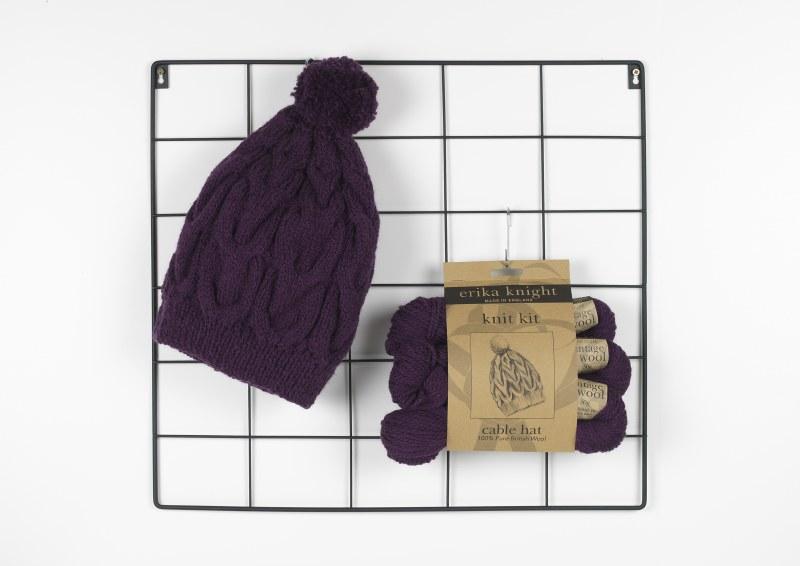 EK Knit Kit Cable Hat Drizzle