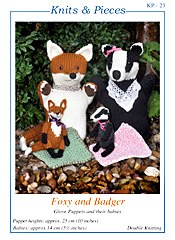 Foxy And Badger Glove Puppet