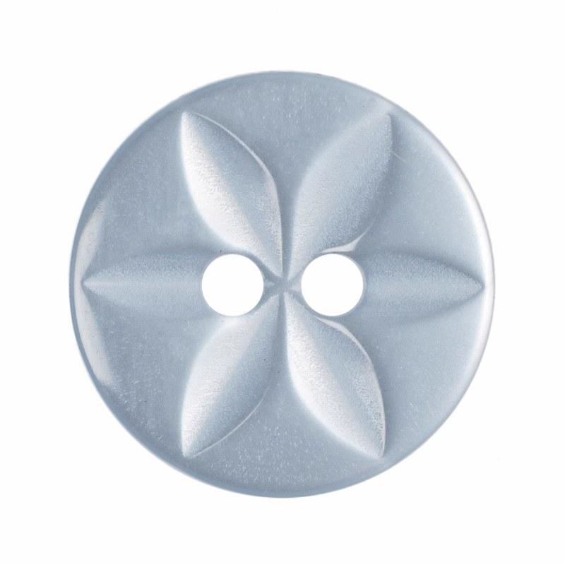 Button Round Star 14mm P Blue