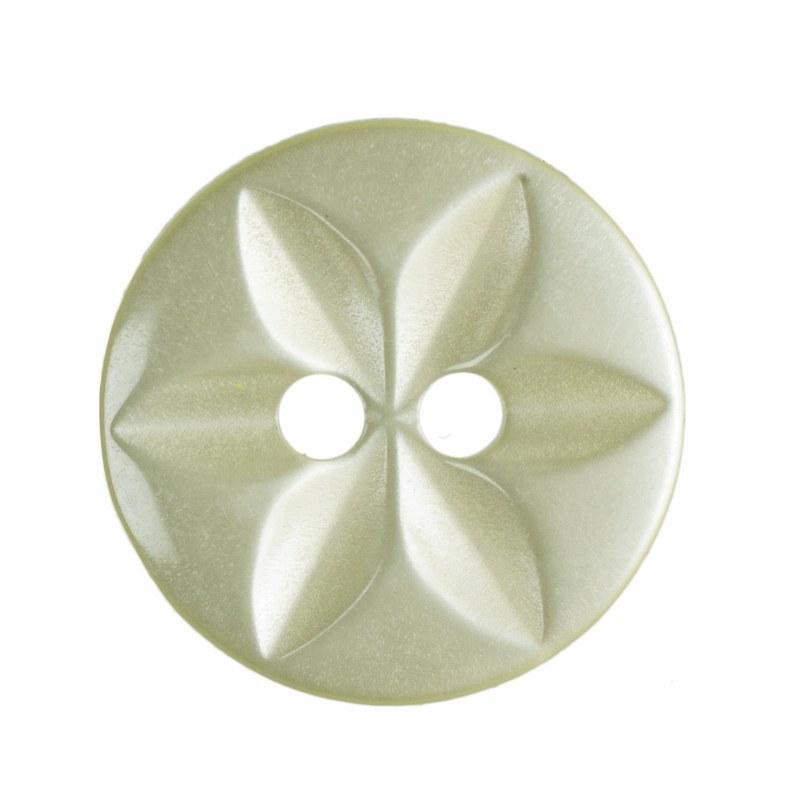 Button Round Star 14mm Yellow