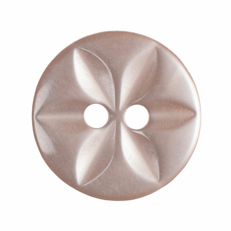 Button Round Star 14mm Peach