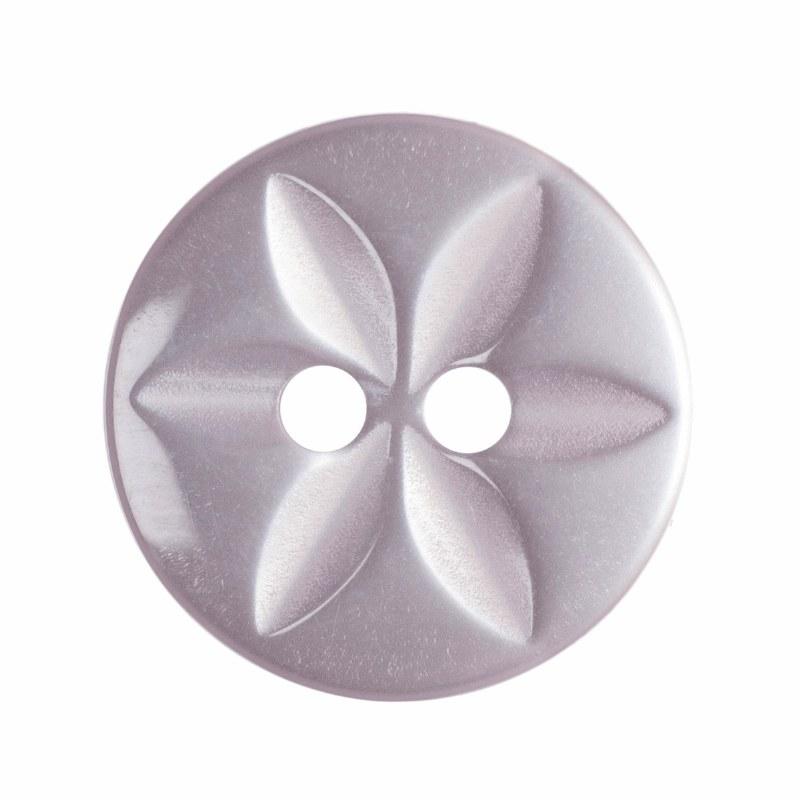 Button Round Star 14mm P Pink