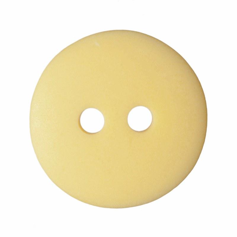 Button Matt Smartie15mm Yellow