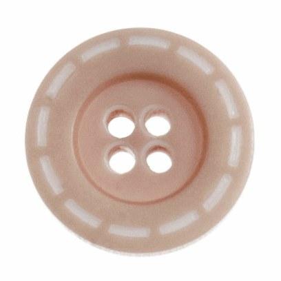 Button Stitched 18mm Beige