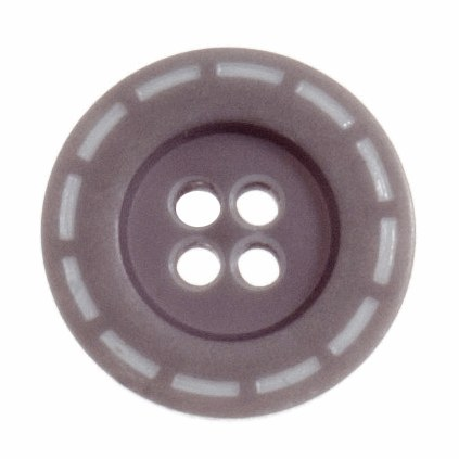 Button Stitched 18mm Grey