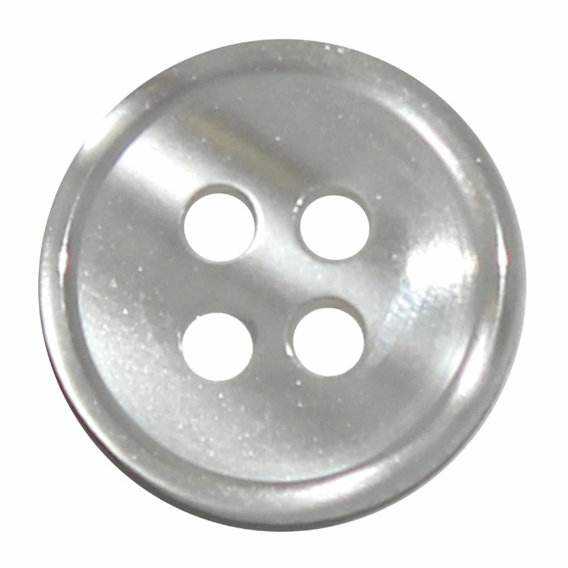 Button 4 Hole 13mm White