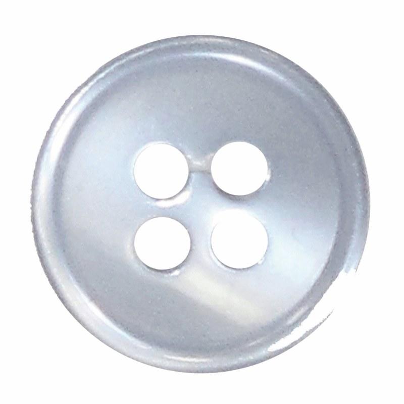 Button 4 Hole 13mm Light Blue