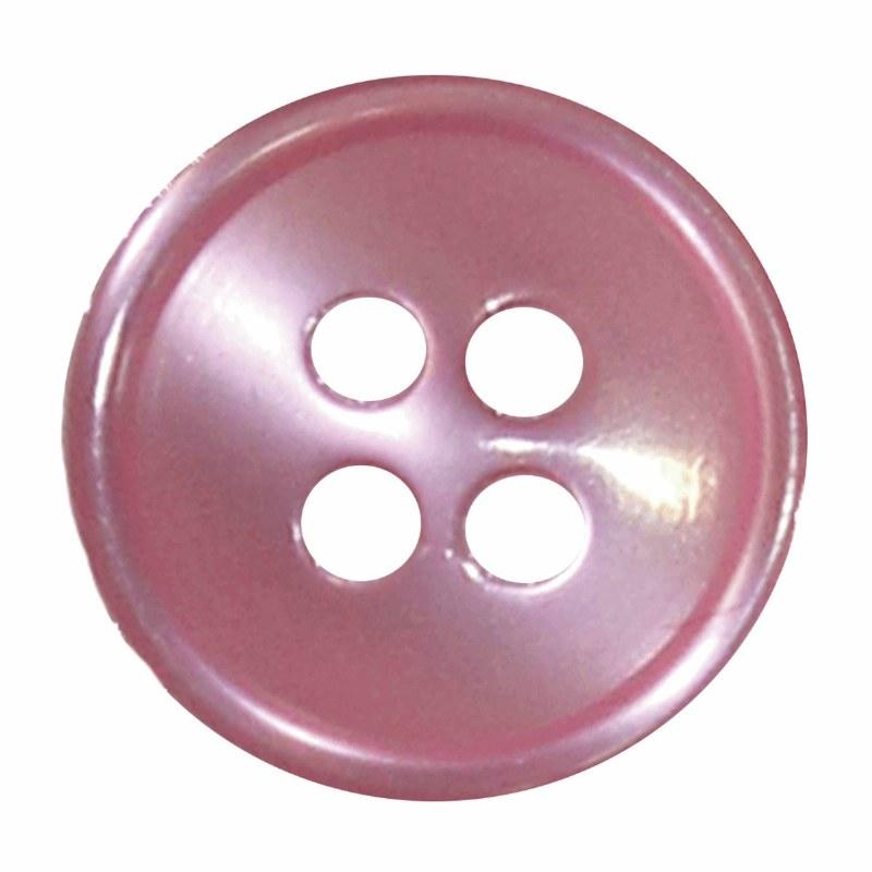 Button 4 Hole 13mm Light Pink