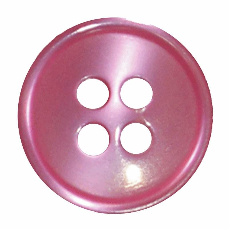 Button 4 Hole 13mm Fuchsia